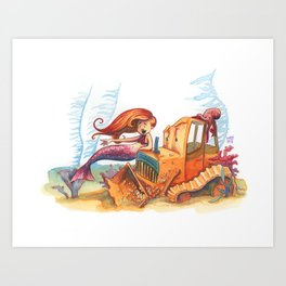 Barnacle Bulldozer Art Print