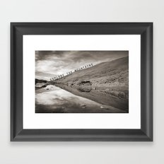 EXPLORE THE MOUNTAINS Framed Art Print