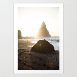 Beach-goer Art Print