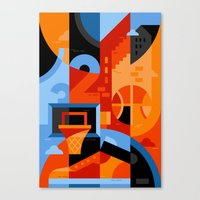 basketball Canvas Prints featuring Basketball by koivo