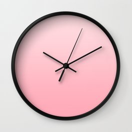 Pastel Pink to Pink Horizontal Linear Gradient Wall Clock