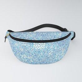 Blue Ornate Fanny Pack