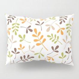 Assorted Leaf Silhouettes Ptn Retro Colors Pillow Sham