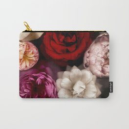 Pink, White, and Red Roses Carry-All Pouch