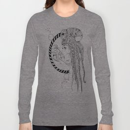 Octopus Woman Long Sleeve T-shirt