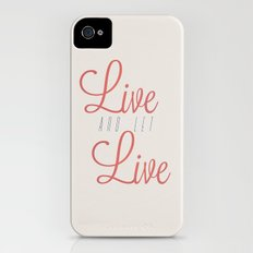 Live And Let Live iPhone (4, 4s) Slim Case