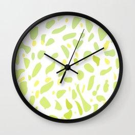 lemon green gradient minimal print Wall Clock