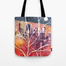 Towers between the trees Tote Bag