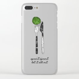 Sprout Sprout, Vegan, Vegetarian Clear iPhone Case