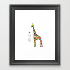 .jirafa. Framed Art Print