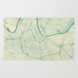 Nashville Map Blue Vintage Rug