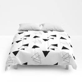 Modern Black Triangles Comforters