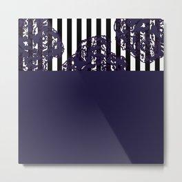 Navy Cut Out Metal Print