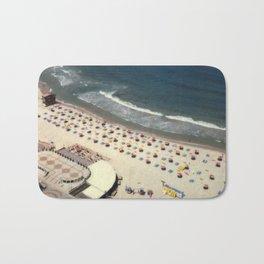Tel-Aviv beach at summer, high from above, Israel, scaned sx-70 Polaroid Bath Mat