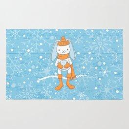 Bunny and Snowflakes_3 Rug