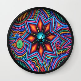 QUYLUUR INDIAN PAINTING Wall Clock