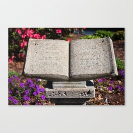 Holy Bible In Stone Canvas Print