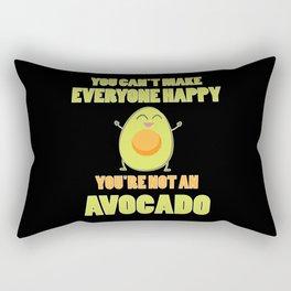Happy Avocado Quote | Vegan Gift Idea Rectangular Pillow