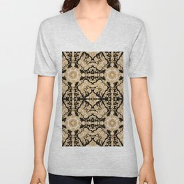 A Modern Vintage Dream (black background) Unisex V-Neck