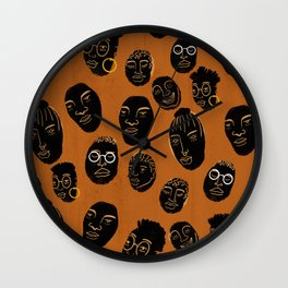 Rolling Heads Wall Clock
