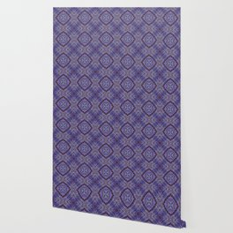 Purple Zen Doodle Pattern Wallpaper