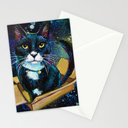 Tuxedo Cat In Space! Stationery Cards
