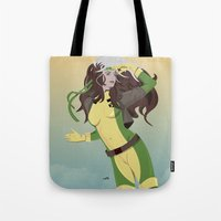 rogue Tote Bags featuring rogue (90s) by Andrew Formosa
