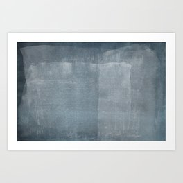 Minimal Blue Abstract 01 Art Print