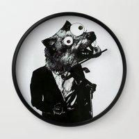 werewolf Wall Clocks featuring Werewolf by slakjawdyokel