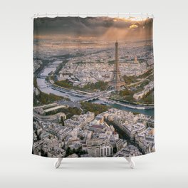 Paris from the air Shower Curtain
