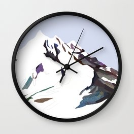 Mountains In The Cold Design Wall Clock