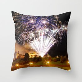 Castle Illuminations Inverness Scotland Throw Pillow