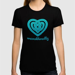 UNCONDITIONALLY in teal T-shirt