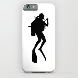Scuba Diver Silhouette iPhone Case