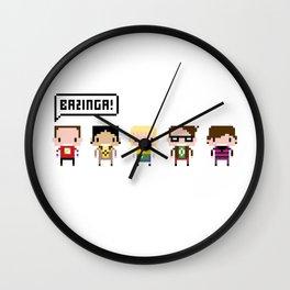 The Big Bang Theory Pixel Characters Wall Clock