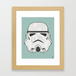 Stormtrooper trivia infographic print design Framed Art Print