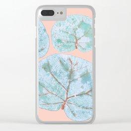 Tropical Sea Grape Leaves Clear iPhone Case