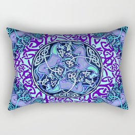 7 Blue Celtic Horses Rectangular Pillow