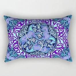 7 Blue Celtic Horses Rectangular Pillow