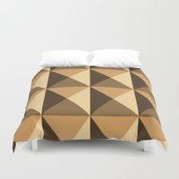 copper Duvet Covers featuring Copper by Fernanda Fattu
