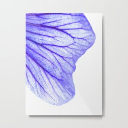 Blue flower abstract watercolor Metal Print