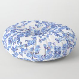 Forget-me-not Watercolor Floor Pillow