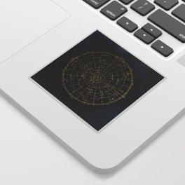 Golden Star Map Sticker