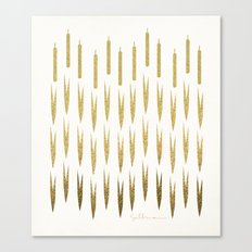 Gold Cattails Canvas Print