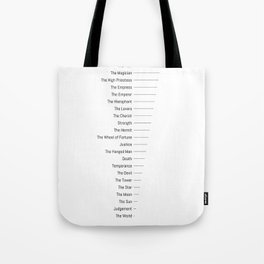 Tarot Major Arcana - The Fool's Morning Coffee Tote Bag