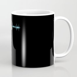 Audio Headphones Frequency Sound Motif Coffee Mug