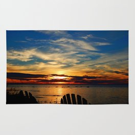 Peace and Relaxation at the Sea shore Rug