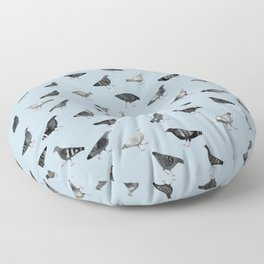 Pigeons Doing Pigeon Things Floor Pillow