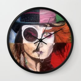 Four Faces of Johnny Depp Wall Clock