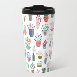 Spring Flowerpots Travel Mug